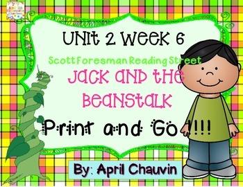 Jack and the Beanstalk : Print and Go  Unit 2 Week 6 Reading Street Kindergarten