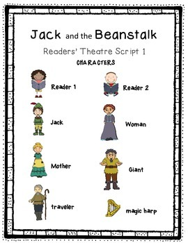 Jack and the Beanstalk Readers' Theater Differentiated Literacy Station