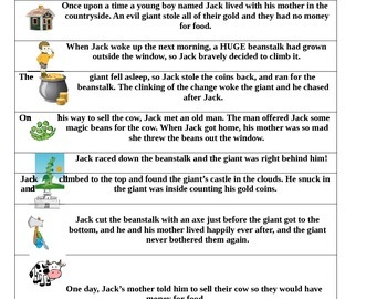 Jack and the Beanstalk Retelling Strips