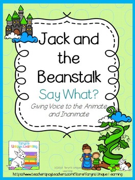 Personification-  Jack and the Beanstalk