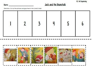 Jack and the Beanstalk Sequencing--Kindergarten Reading Street Unit 2 Week 6