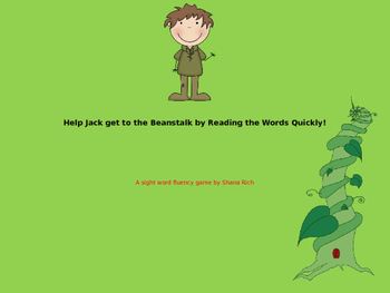 Jack and the Beanstalk Sight Word Fluency