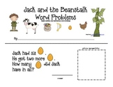 Jack and the Beanstalk Simple Word Problem Practice--Addition and Subtraction