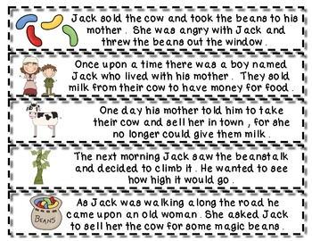 photo regarding Jack and the Beanstalk Story Printable named Jack and the Beanstalk Tale Retell and Sequencing