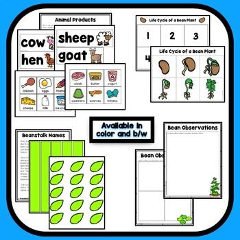 Jack and the Beanstalk Theme Preschool Lesson Plans