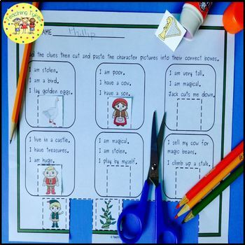Jack and the Beanstalk Fairy Tales Worksheets Activities Games and More