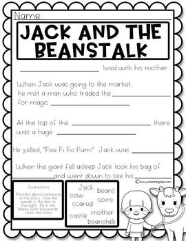 Jack and the Beanstalk - a Language Arts unit
