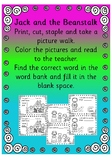 Jack and the Beanstalk color. reading and writing