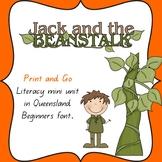 Jack and the Beanstalk literacy activities in Queensland B
