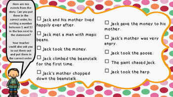 Jack and the Beanstalk reading pack, grades 1 and 2