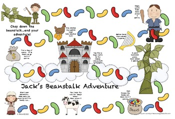 Jack and the Beanstalk themed game board