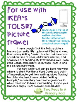 Jack and the Beanstalk word cards for IKEA TOLSBY frames