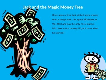 Jack and the Magic Money Tree - Beginning, Middle, End Problem Solving