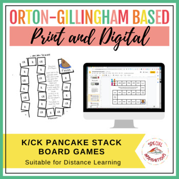 Jack and the Pancake Stack!! (a k/ck board game) Orton-Gillingham Inspired