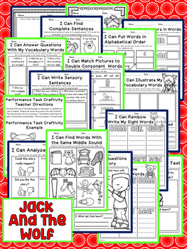 Jack and the Wolf First Grade NO PREP Supplemental Printables