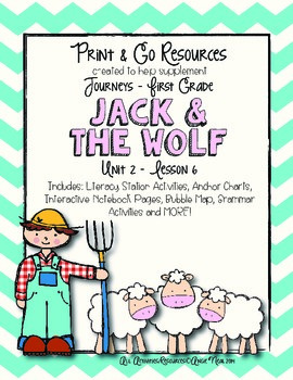 Jack and the Wolf - Journeys First Grade Print and Go