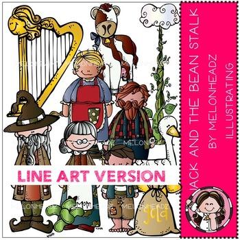 Jack and the bean stalk clip art - LINE ART- by Melonheadz