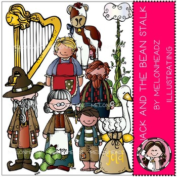 Melonheadz: Jack and the beanstalk clip art - COMBO PACK