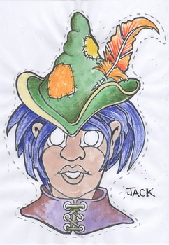 Jack and the beanstalk color and black line masks