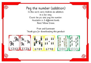 Jack and the beanstalk peg the number (addition)