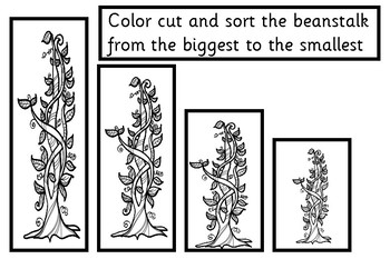 Jack and the beanstalk - sort by size