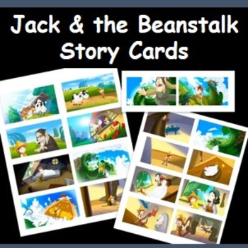 Jack and the beanstalk- visual story cards