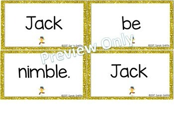 Build a Poem ~ Jack be Nimble ~ Pocket Chart Center