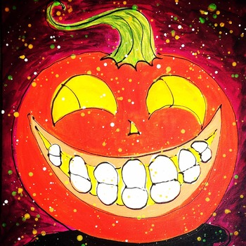 Jack-o-Lantern Art Coloring Page