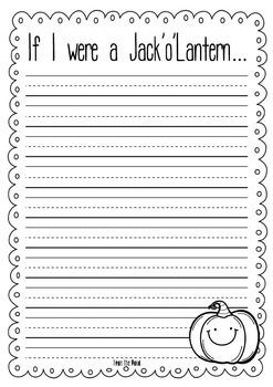 Halloween Activities [Jack o Lantern Craftivity - Print, Cut, Make and Write}