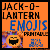 Jack-o-Lantern Emojis Printable