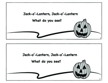 Jack-o-Lantern, Jack-o-Lantern What Do You See? Booklet