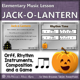 Fall Music Lesson ~ Jack-o-Lantern: Orff, Rhythm, Form, Instruments and a Game