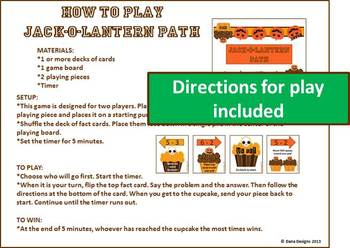 Jack-o-Lantern Path - Basic Addition and Subtraction Game
