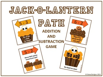 Jack-o-Lantern Path - Basic Addition and Subtraction Game