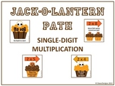 Jack-o-Lantern Path - Single Digit Multiplication Game