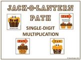 Jack-o-Lantern Path - Single Digit Multiplication Game