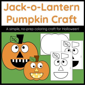 Jack-o-Lantern Pumpkin Craft (No Prep, Perfect for Halloween!)