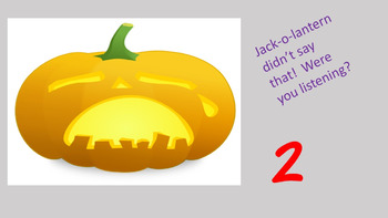 Jack-o-Lantern Says - Fun Game to Review Numbers to 10!!!