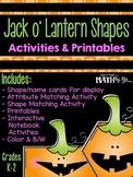 Jack o' Lantern Shapes Printables & Activities