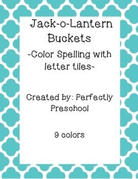 Jack-o-Lantern Tile Spelling Cards for Colors