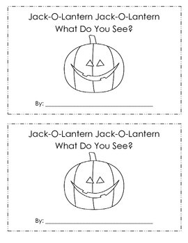 Jack-o-Lantern What Do You See Printable Book