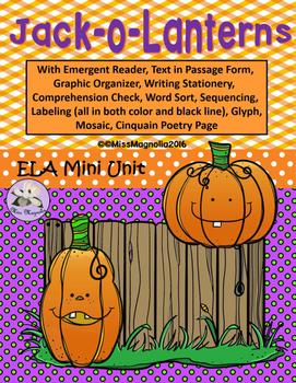 Jack-o-Lanterns ELA Mini Unit