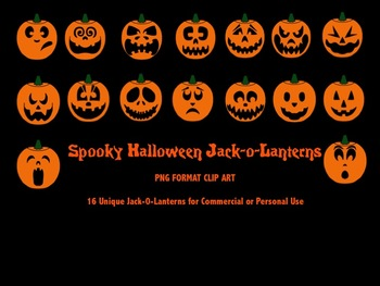 Jack-o-Lanterns / Pumpkin Clip Art