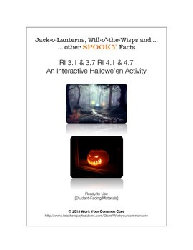 Jack-o-Lanterns, Will-o'-the-Wisps & Other Spooky Facts - Halloween Activity