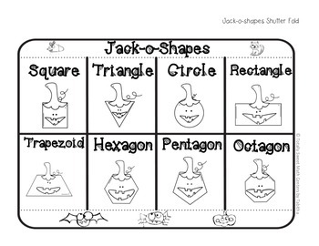 Jack-o-Shapes Interactive Notebook Shutter Fold