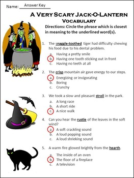 Pumpkin Activities: A Very Scary Jack-o-lantern Halloween Activity Packet -Color