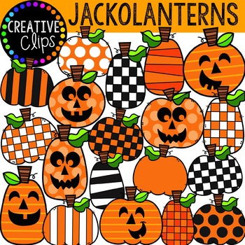 Jack O Lantern Clipart Halloween Clipart By Krista Wallden Creative Clips