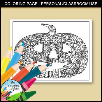 Jack-o-lantern Coloring Page