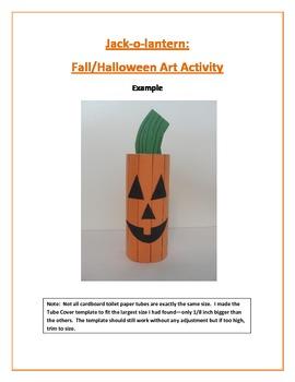 Jack-o-lantern: Fall/Halloween Art Activity