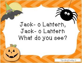 Jack- o lantern, Jack-o Lantern What Do You See?
